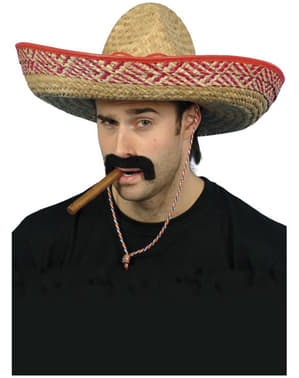 Chapéu mexicano de palha