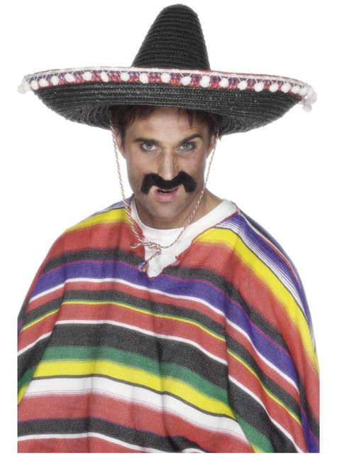 Sombrero mexicano de paja negro