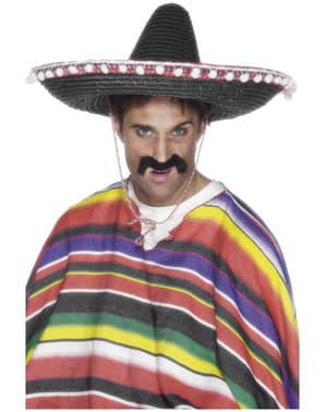 Чорний мексиканський солом'яний капелюх