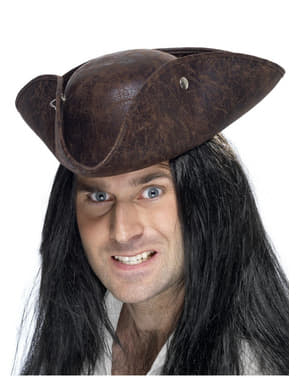 Brown Cocked Pirate Hat