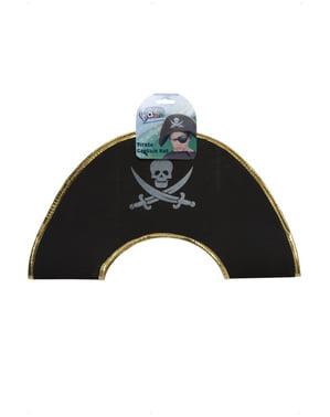 Chapéu de capitão pirata para menino