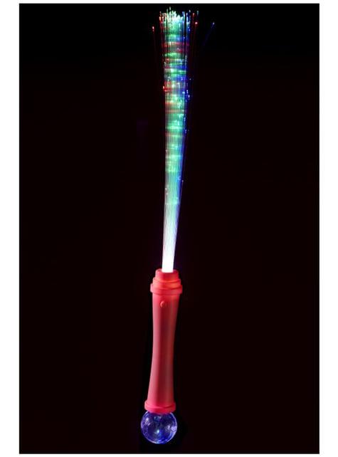 Varita mágica de fibra óptica