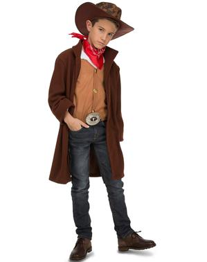 Disfraz de Cowboy marrón para niño