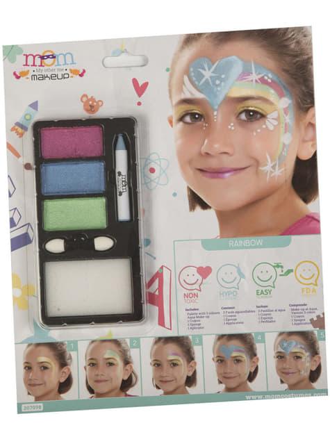 Maquillaje de arcoíris infantil