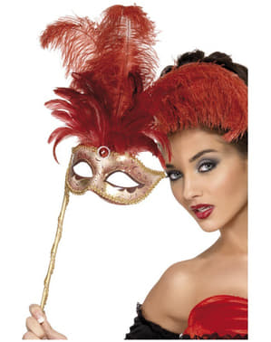 Red Baroque Fantasy Mask