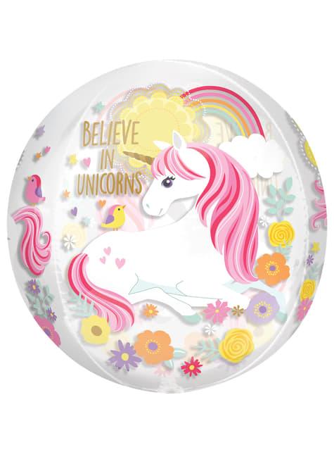 Globo de foil de unicornio (38x40cm) - Pretty Unicorn - para tus fiestas