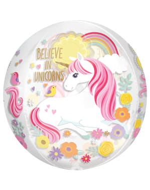 Balão foil princesa unicórnio médio - Pretty Unicorn