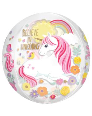Palloncino foil principessa unicorno medio - Pretty Unicorn