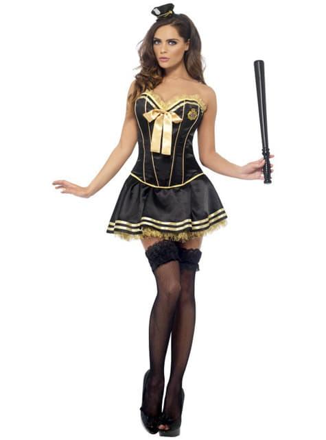 Sexy Politie Vrouw Kostuum