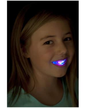 Svítící zubní protéza
