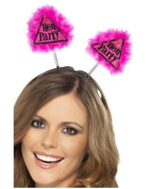 Pink Hen Party Warning Tiara