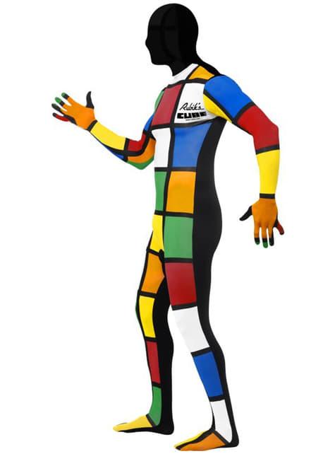 Hudtett Rubiks Cube Kostyme