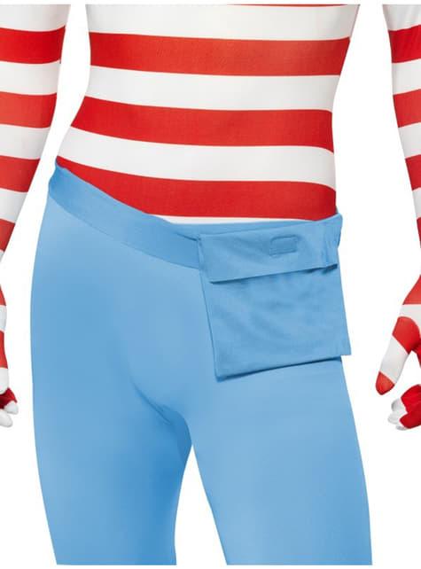 Disfraz de Dónde está Wally segunda piel - hombre