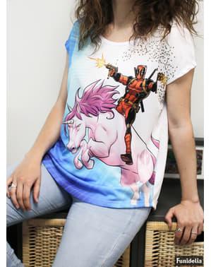 T-shirt Deadpool Enhörning dam