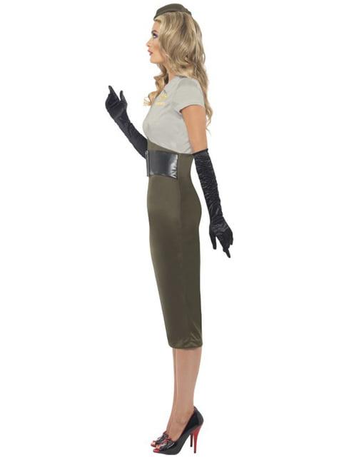 Disfraz de chica pin-up del ejército de la 2ª Guerra Mundial - mujer