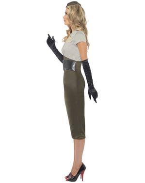 Costum de fată pin-up din armată Al Doilea Război Mondial