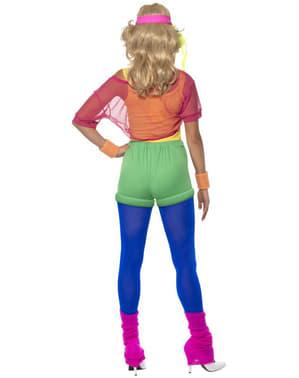 Disfraz de gimnasta años 80 para mujer