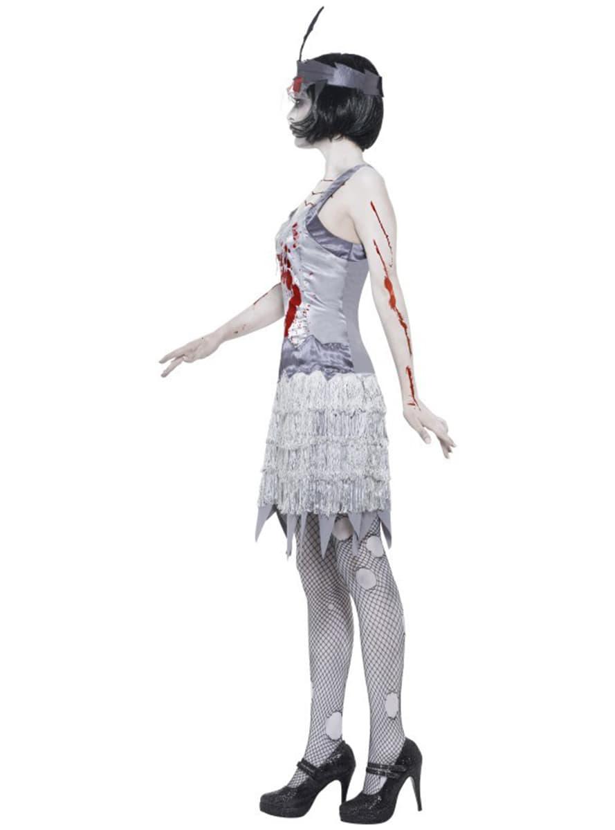 charleston zombie kost m f r damen funidelia. Black Bedroom Furniture Sets. Home Design Ideas