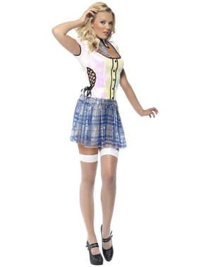 Disfraz de colegiala brillante para mujer