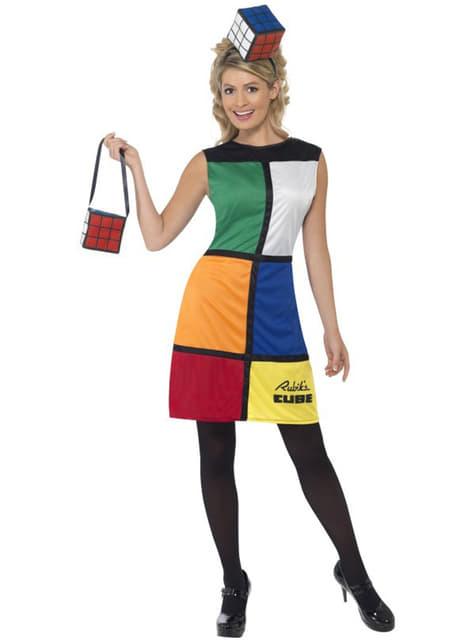 Costume da Cubo de Rubik con cerchietto e borsa