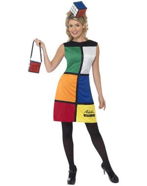 Rubiks Cube Kostyme med Tiara