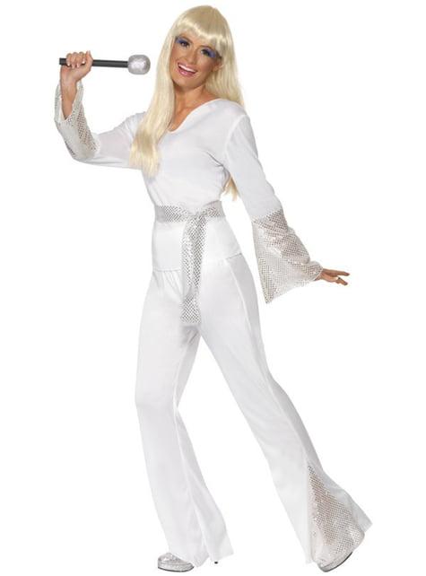 Abba Kostüm Disco Queen weiß