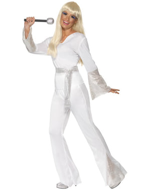 Disfraz de discotequera de los años 70