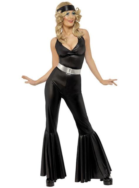 70-talls Diva Svart Kostyme