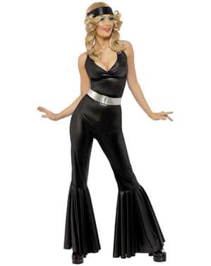 Diva der 70er Kostüm Schwarz