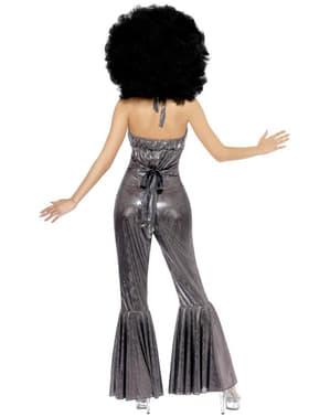 Zilver Disco kostuum Diva