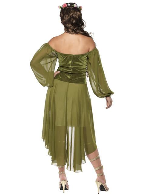Disfraz de doncella de feria - mujer