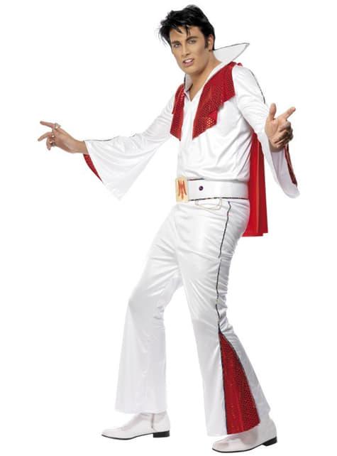 Déguisement d'Elvis blanc