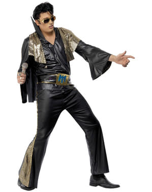Elvis Black and Golden Costume