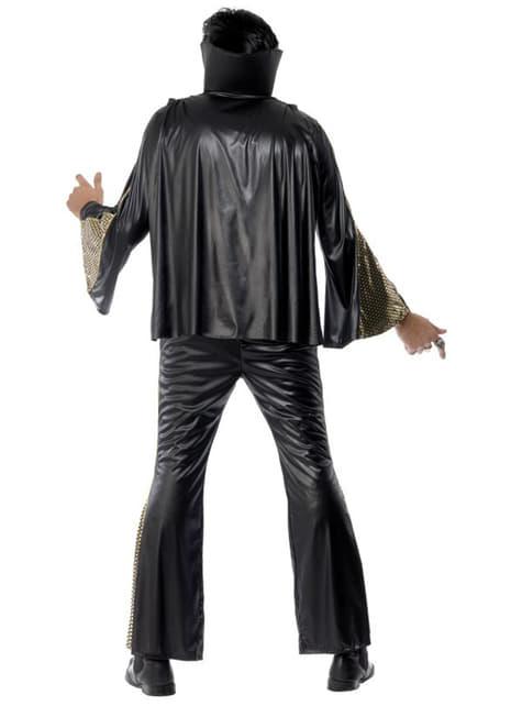 Disfraz de Elvis negro y dorado - hombre