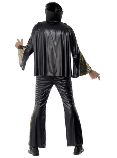Elvis Svart/guld maskeraddräkt