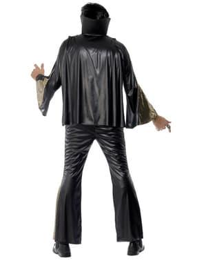 Elvis Kostüm Schwarz und Gold
