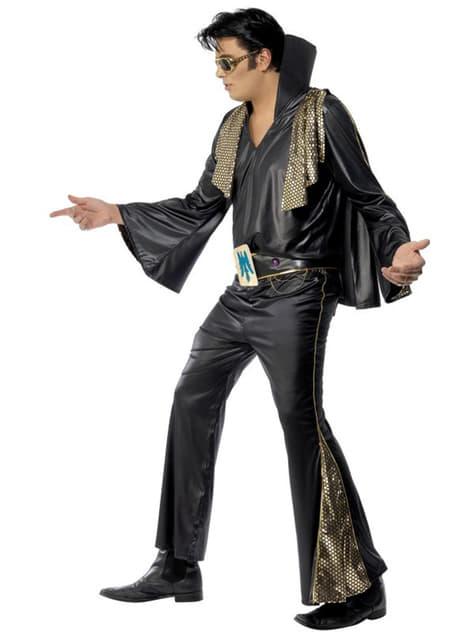 Костюм на Елвис в черно и златисто