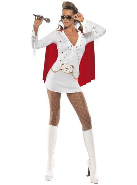 Dámský kostým Elvis Viva Las Vegas bílý