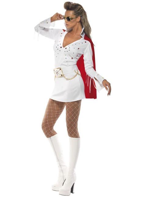 Lady's Elvis Viva Las Vegas White Costume