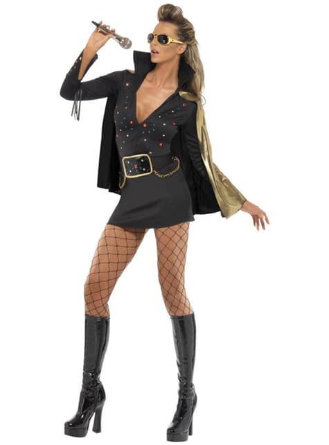 Disfraz de Elvis Viva Las Vegas negro