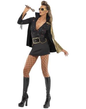 Costum Elvis Viva Las Vegas negru