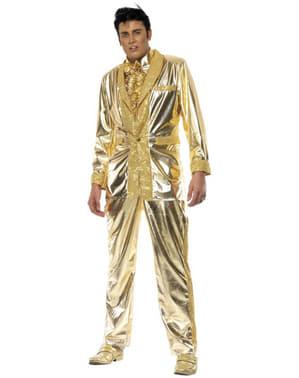 Guldfarvet Elviskostume