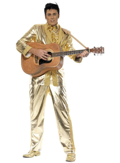 Disfraz de Elvis dorado - hombre