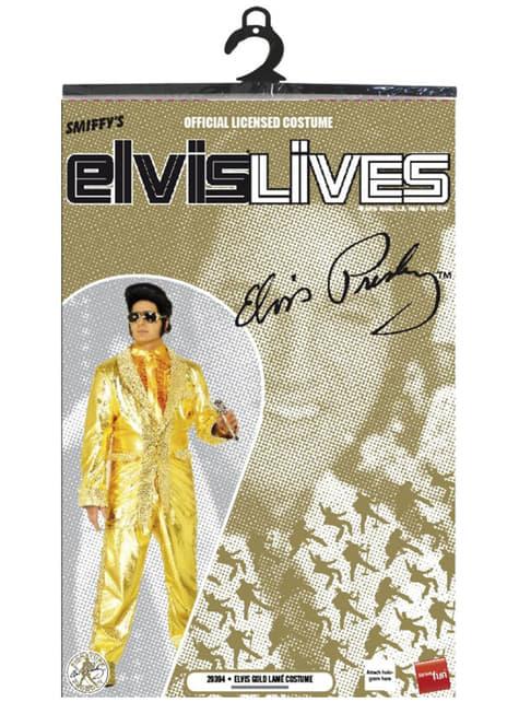 Disfraz de Elvis dorado - traje