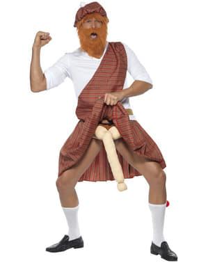 Costum de scoțian bine dotat