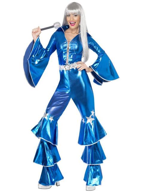 Disfraz de Abba azul años 70