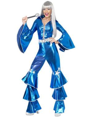 Abba Kostüm Dancing Queen blau