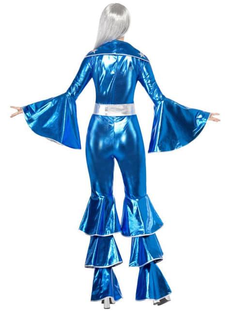 Disfraz de Abba azul años 70 - mujer