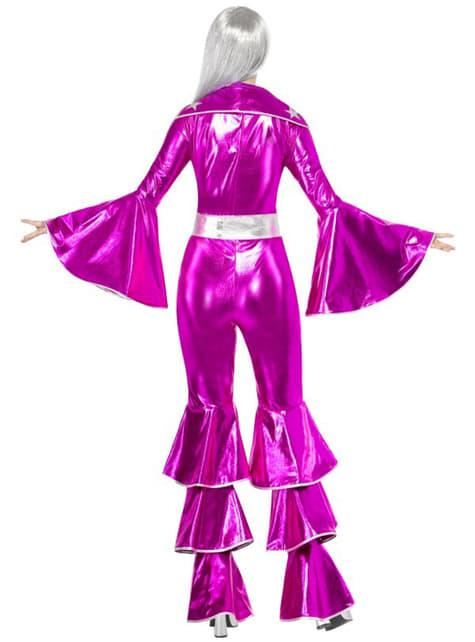 Disfraz de Abba rosa años 70 - mujer