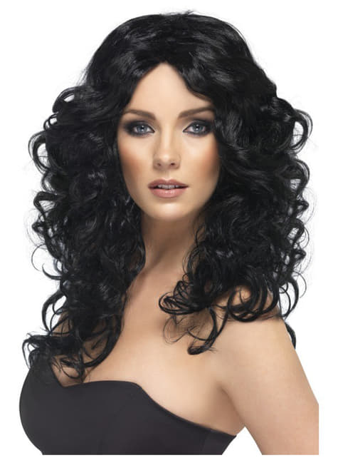 Peluca glamour negra